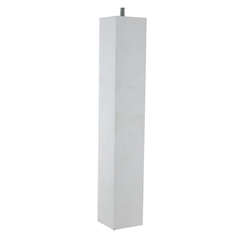 Pied De Table Carre.Pied De Table Basse Carre Fixe Hetre Laque Blanc 36 Cm