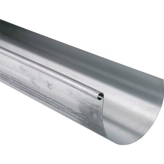 Goutti re demi ronde zinc lmc virano d cm grise l 2 m for Gouttiere demi ronde zinc