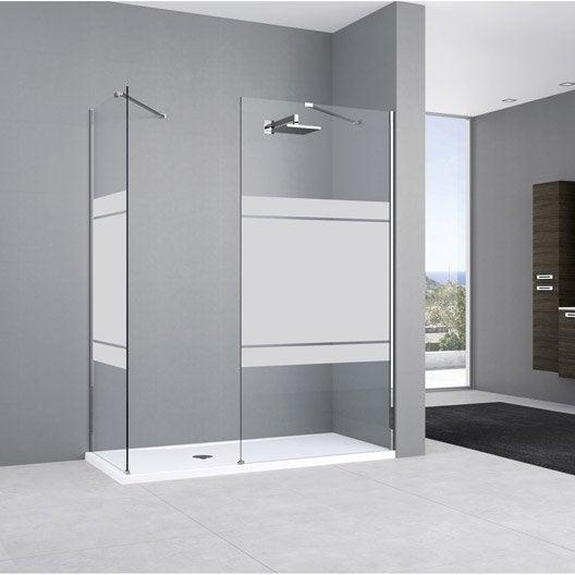 paroi de douche l 39 italienne cm verre s rigraphi 8 mm elisea espace leroy merlin. Black Bedroom Furniture Sets. Home Design Ideas