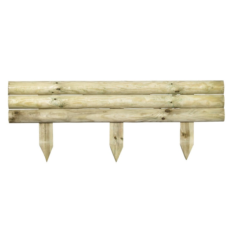 Retenue De Terre à Planter Bois Naturel H40 X L110 Cm