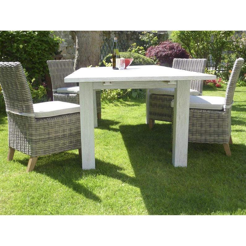 Lot de 2 chaises de jardin en résine Vintage gris | Leroy Merlin