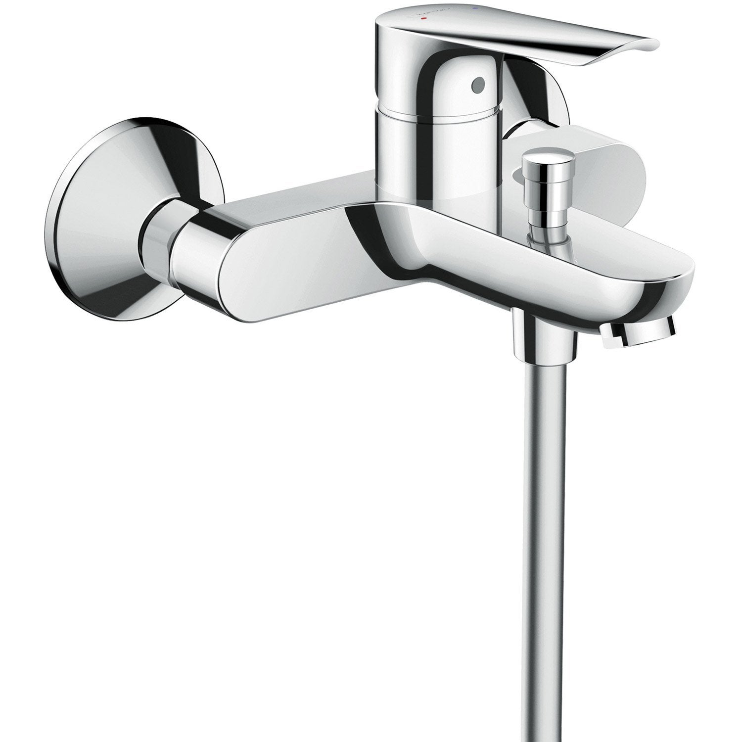 Mitigeur thermostatique de baignoire chrome brillant, HANSGROHE Logis