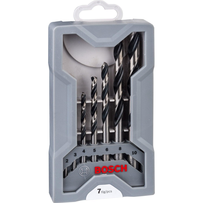 Forets à métaux HSS taillé-meulé diamètre 6 mm par lot de 10 Bricolage Accessoires pour outillage électroportatif
