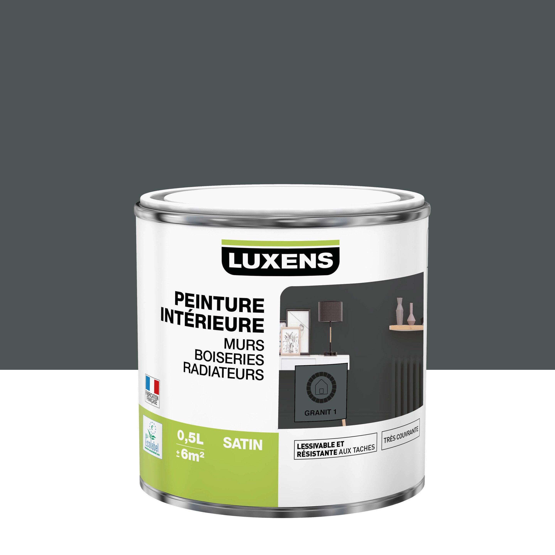 Peinture mur, boiserie, radiateur intérieur Multisupports LUXENS, granit 1, sati