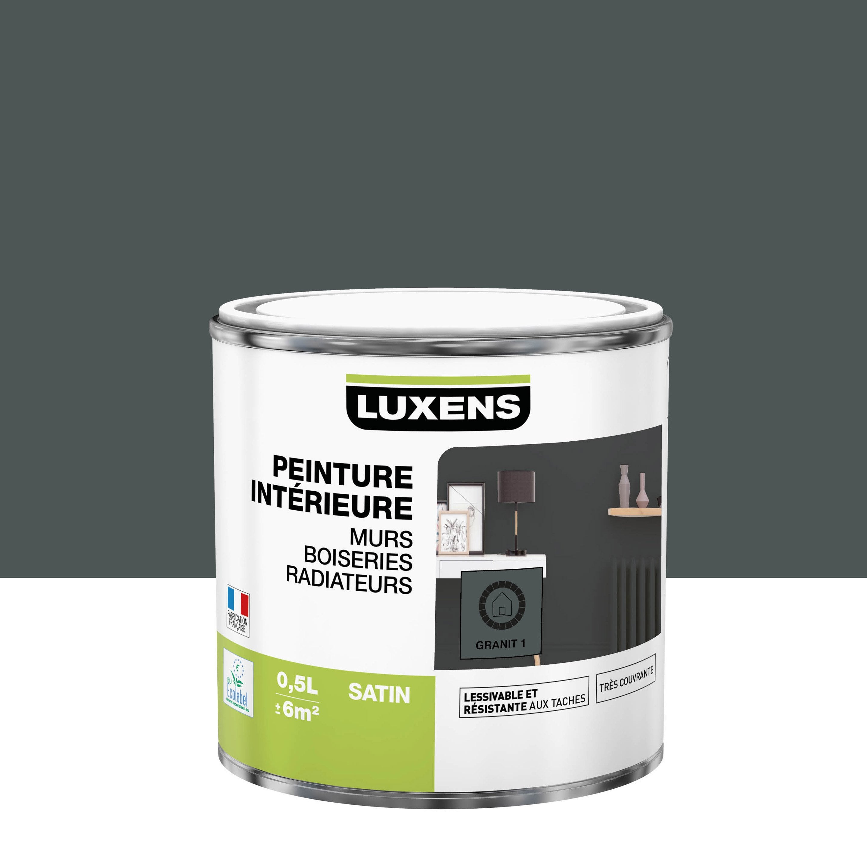 Peinture, mur, boiserie, radiateur, Multisupports LUXENS, granit 1, satin, 0.5 l