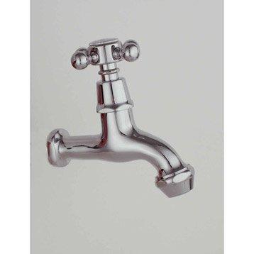 Robinet de lave-mains eau froide chromé Emma