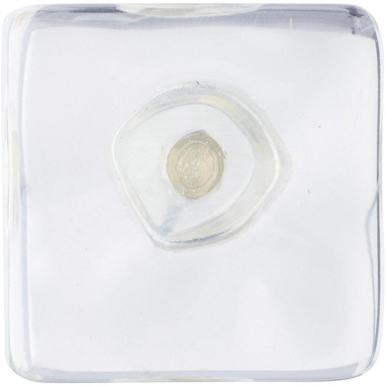 Bouton De Meuble Ice Argent Résine H31 X L35 X P31 Mm