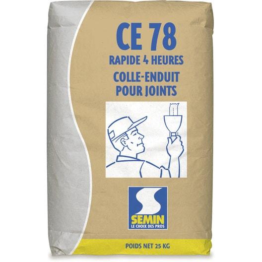 Enduit joint plaque pl tre ce78 4h semin poudre 25kg - Enduit de lissage bande a joint ...