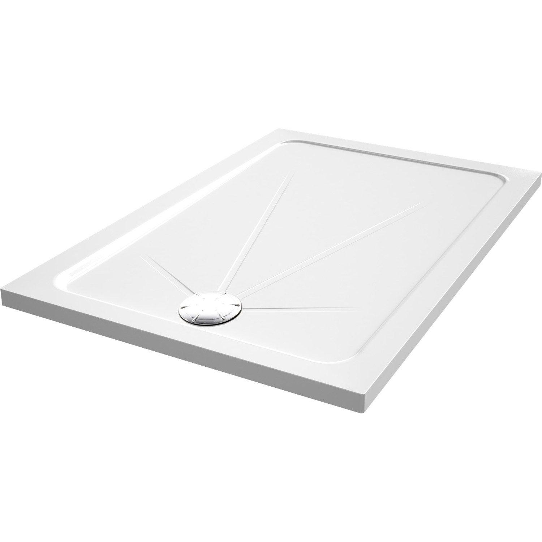 Receveur De Douche Rectangulaire L 100 X L 80 Cm Acrylique Blanc