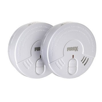 Lot de 2 détecteurs de fumée FIREX Fi04, 5 ans