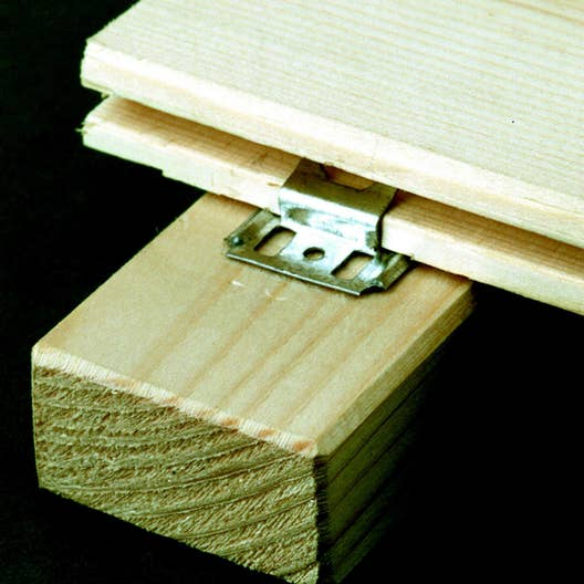 lot de 250 clips clous pour lambris bois leroy merlin. Black Bedroom Furniture Sets. Home Design Ideas