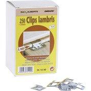 Lot de 250 clips + clous pour lambris bois