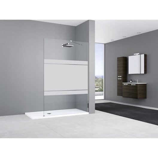 paroi de douche l 39 italienne cm verre s rigraphi 8 mm elisea leroy merlin. Black Bedroom Furniture Sets. Home Design Ideas