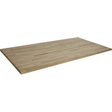 Plateau de table chêne lamellé collé, L.160 x l.80 cm x Ep.22 mm