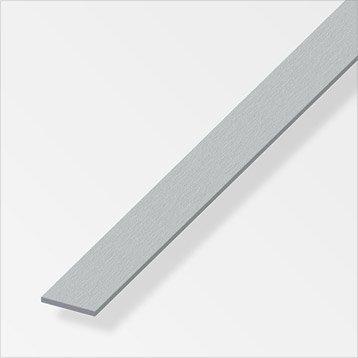 Plat aluminium brossé, L.2.5 m x l.3 cm