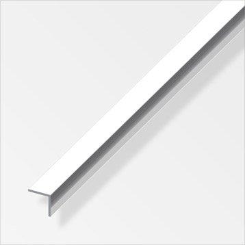 Cornière égale aluminium brillant, L.2.5 m x l.1.5 cm x H.1.5 cm