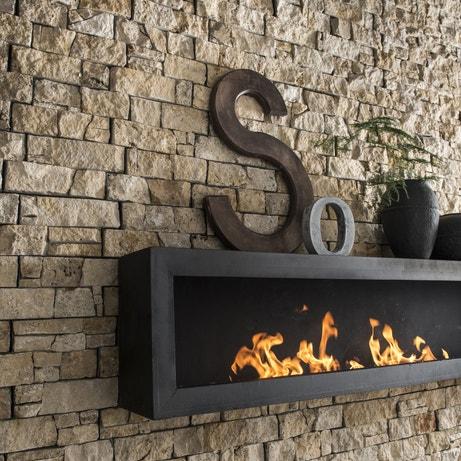 Donner un côté authentique au salon avec des plaquettes de parement en pierre naturelle