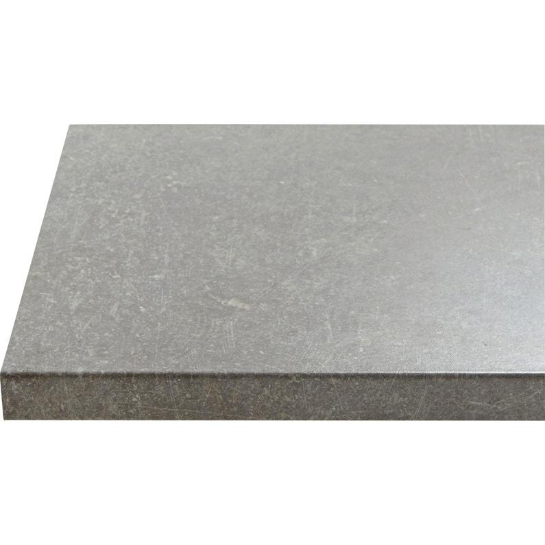 5eaf6600c40 Plan de travail stratifié Effet pietra Satiné L.246 x P.63.5 cm
