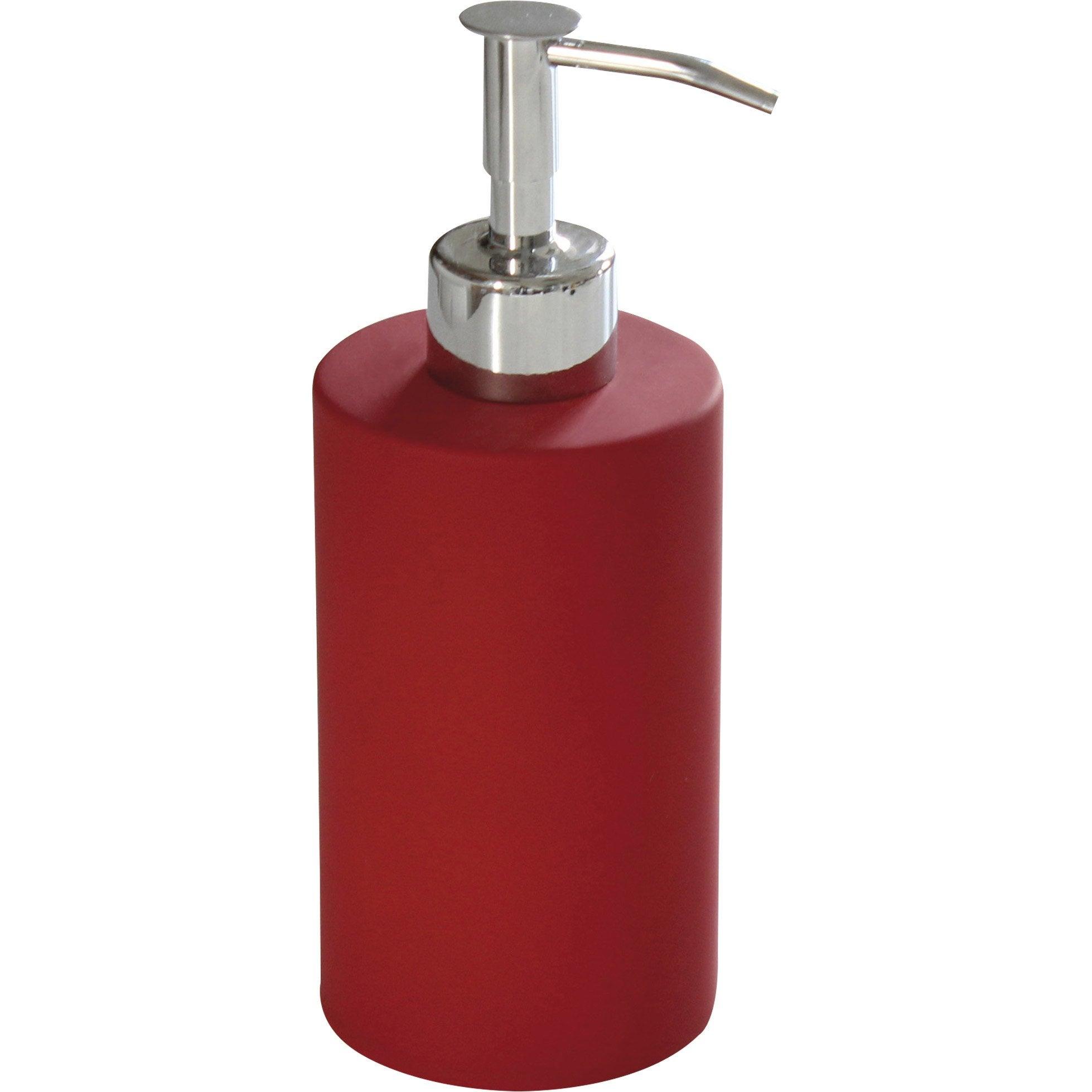 Distributeur de savon céramique rouge-rouge n°3