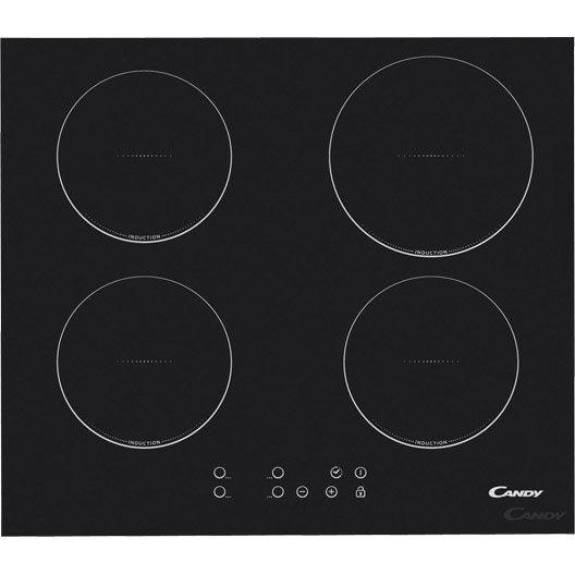 Plaque à induction 4 foyers, noir, CANDY CI640C