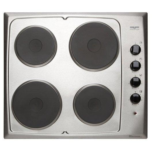 Plaque de cuisson lectrique 4 foyers inox frionor - Leroy merlin plaque de cuisson ...
