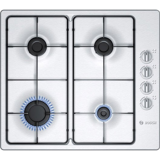 Plaque de cuisson gaz pbp615b80e bosch 4 foyers leroy - Plaque de cuisson gaz leroy merlin ...