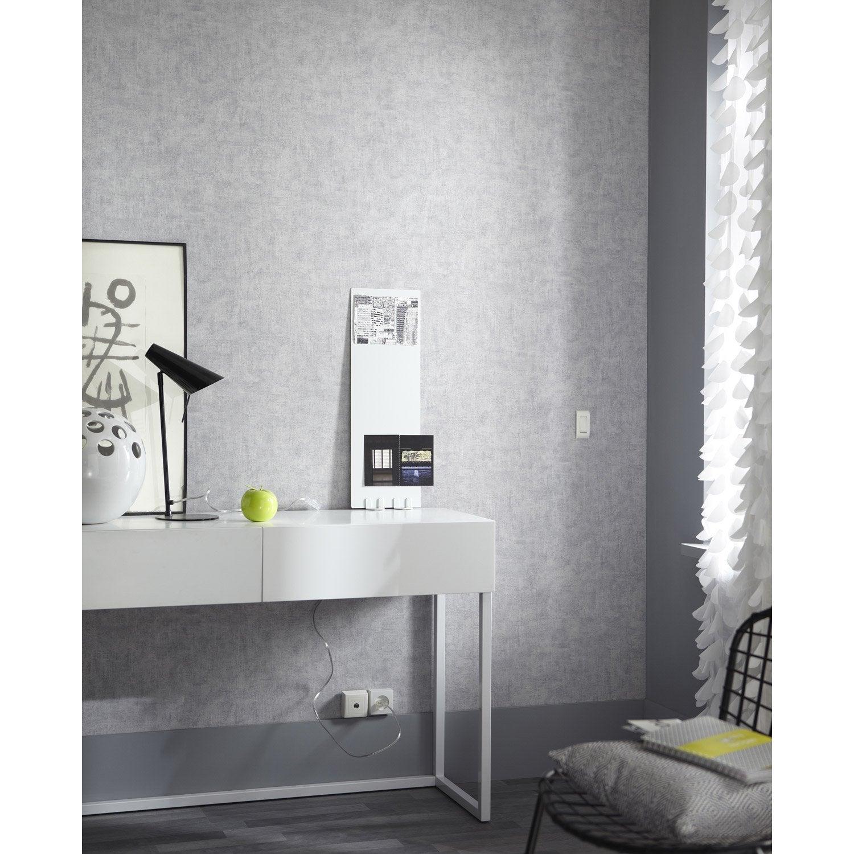 Papier peint intissé Patine gris - Papier peint intissé (encollage ...