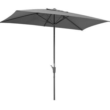 parasol rectangulaire anthracite