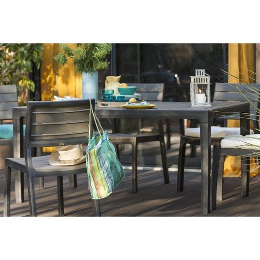 chaise de jardin en r sine harmony couleur anthracite keter leroy merlin. Black Bedroom Furniture Sets. Home Design Ideas