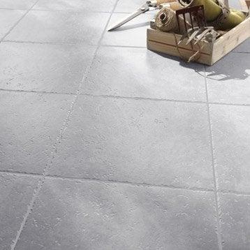 Carrelage sol gris souris effet pierre Michigan l.34 x L.34 cm