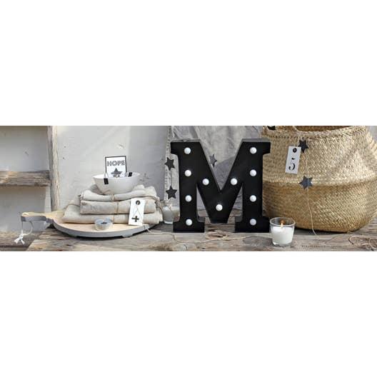 toile led lettre m x cm leroy merlin. Black Bedroom Furniture Sets. Home Design Ideas