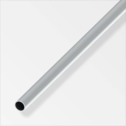 tube rond aluminium brillant l 2 5 m x mm leroy merlin. Black Bedroom Furniture Sets. Home Design Ideas