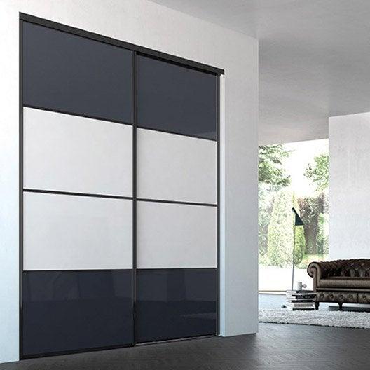 Porte de placard coulissante sur mesure iliko quatro de 20 for Porte 60 cm largeur