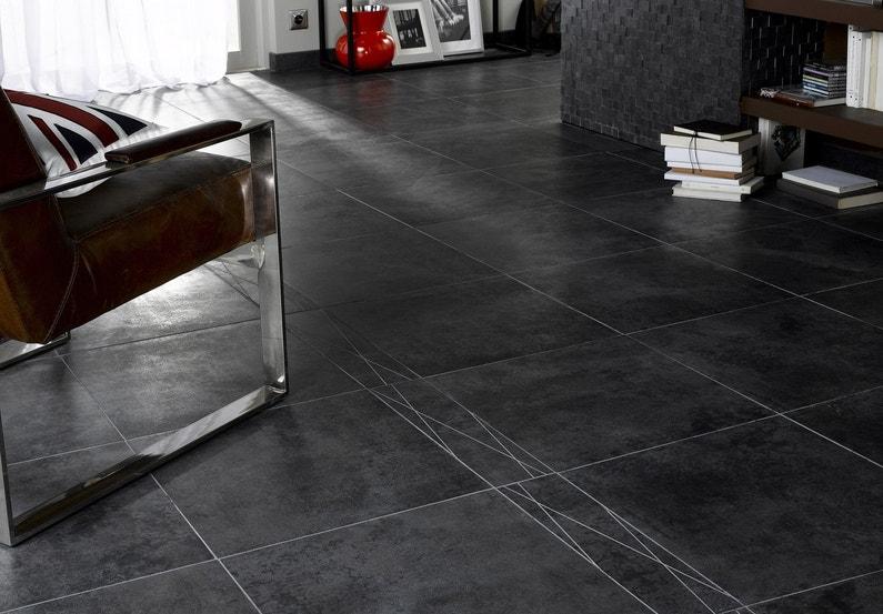 un carrelage gris fonc moderne leroy merlin. Black Bedroom Furniture Sets. Home Design Ideas