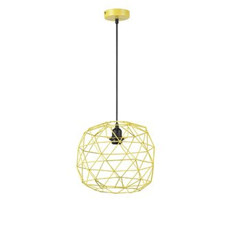 Suspension, e27 design Crystal métal jaune 1 x 60 W MATHIAS