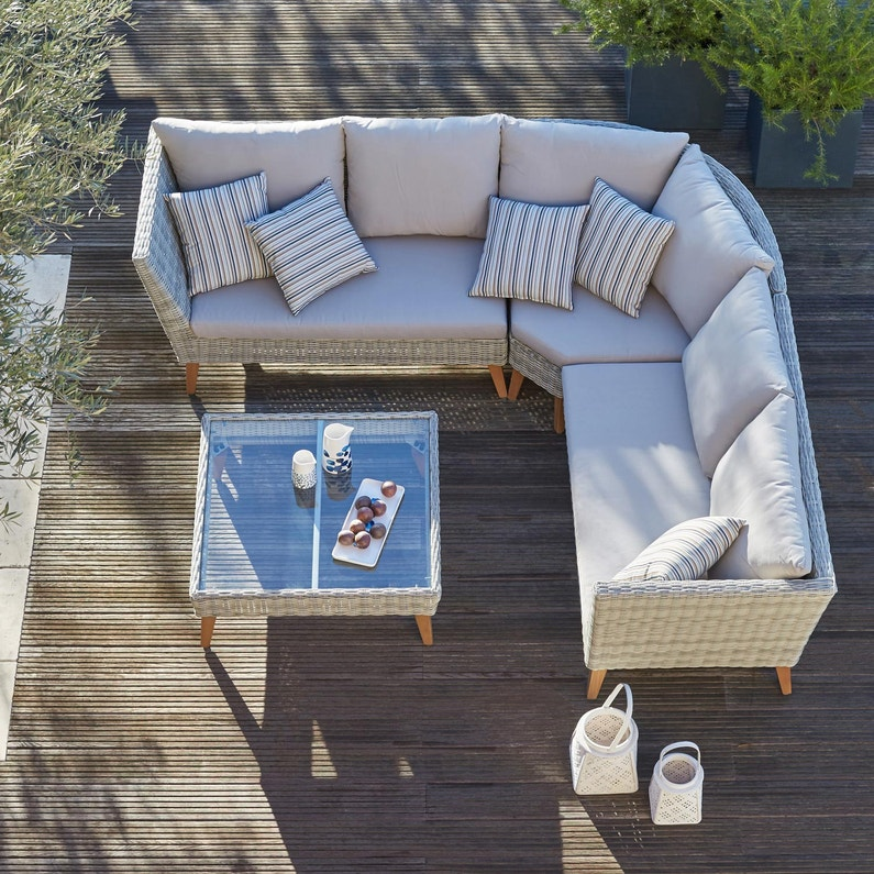 Beautiful Salon De Jardin En Resine Tressee Couleur Taupe Images ...
