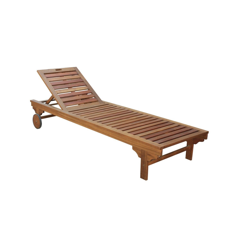 bain de soleil amovible en bois porto brun leroy merlin. Black Bedroom Furniture Sets. Home Design Ideas