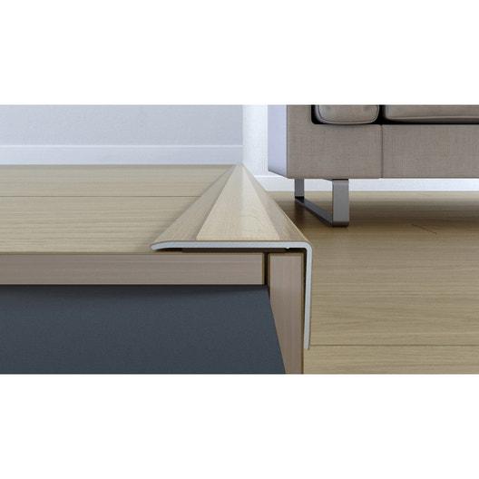 nez de marche plaqu ch ne blond pour parquet cm x l. Black Bedroom Furniture Sets. Home Design Ideas