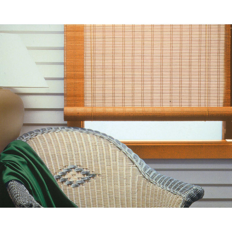 Store enrouleur tamisant Bois tissé, chamois, 80/90 x 180 cm