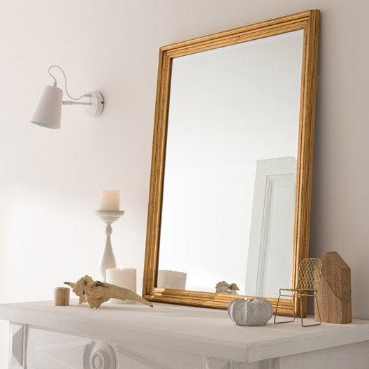 Miroir design industriel miroir mural sur pied au meilleur prix leroy merlin for Grand miroir bois brut