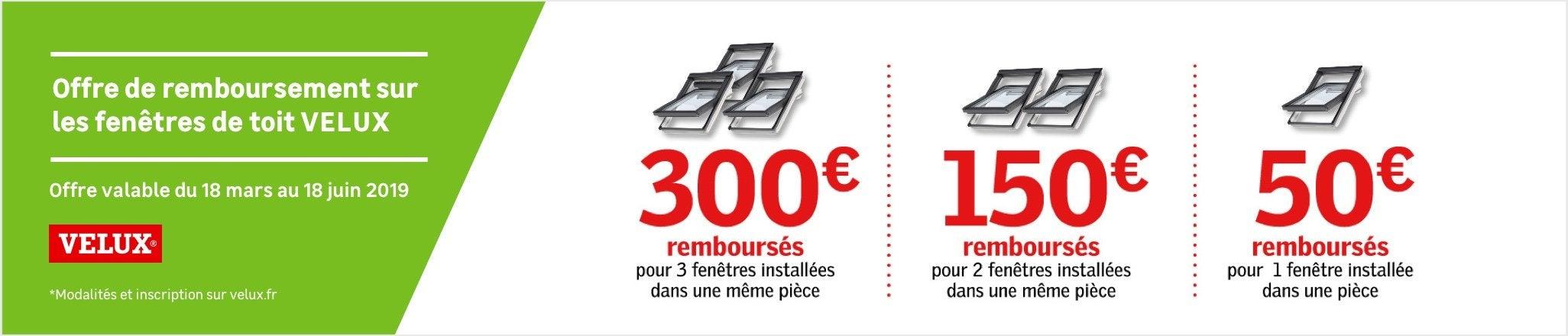 Offre De Remboursement Sur Les Fenetres De Toit Velux Jusqu Au 18 Juin 2019 Au Meilleur Prix Leroy Merlin