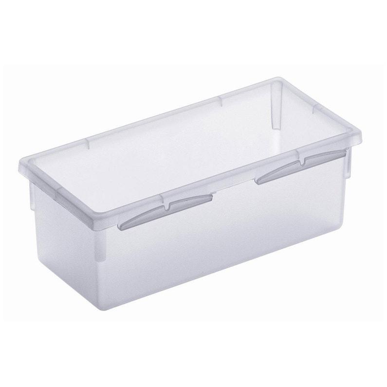 Organisateur tiroir transparent l.8 x p.15 cm | Leroy Merlin