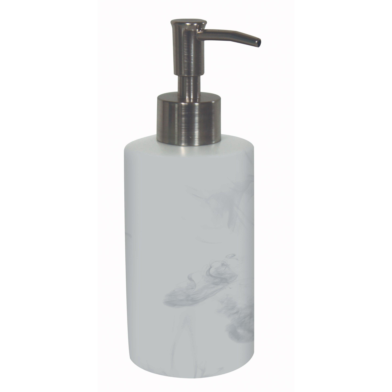 Distributeur de savon céramique brossé blanc