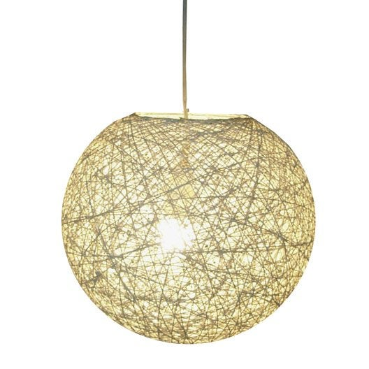 Suspension e14 boh me kirou rotin naturel 1 x 40 w for Plafonnier rotin