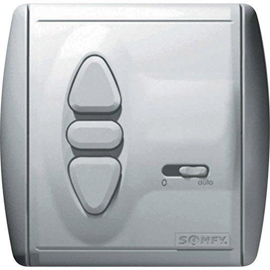 interrupteur horloge radio rts somfy 2400850 | leroy merlin