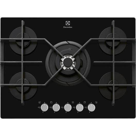 plaque de cuisson gaz 5 foyers noir electrolux. Black Bedroom Furniture Sets. Home Design Ideas