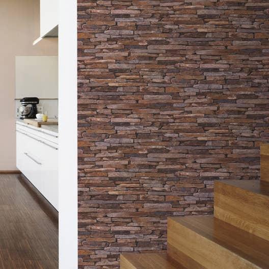 papier peint intiss pierres plates multicouleur leroy. Black Bedroom Furniture Sets. Home Design Ideas