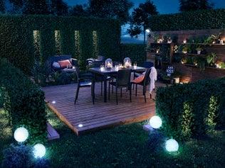 Éclairer votre jardin la nuit