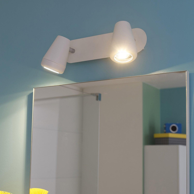 rampe 2 spots manta led 2 x 4 5 w gu10 blanc chaud leroy merlin. Black Bedroom Furniture Sets. Home Design Ideas