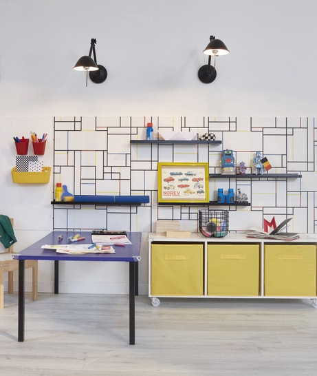 Un style industriel et coloré dans la chambre d'enfant